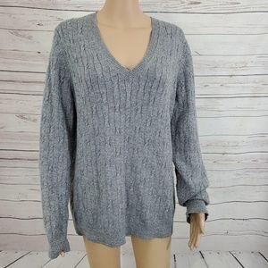 Loft Wool Rabbit Hair Sweater XL Gray